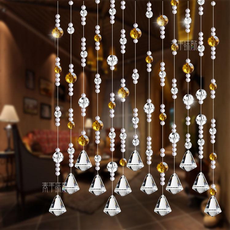 珠帘水晶隔断帘成品水晶帘风水门帘线帘挂帘客厅装饰玄关帘子窗帘