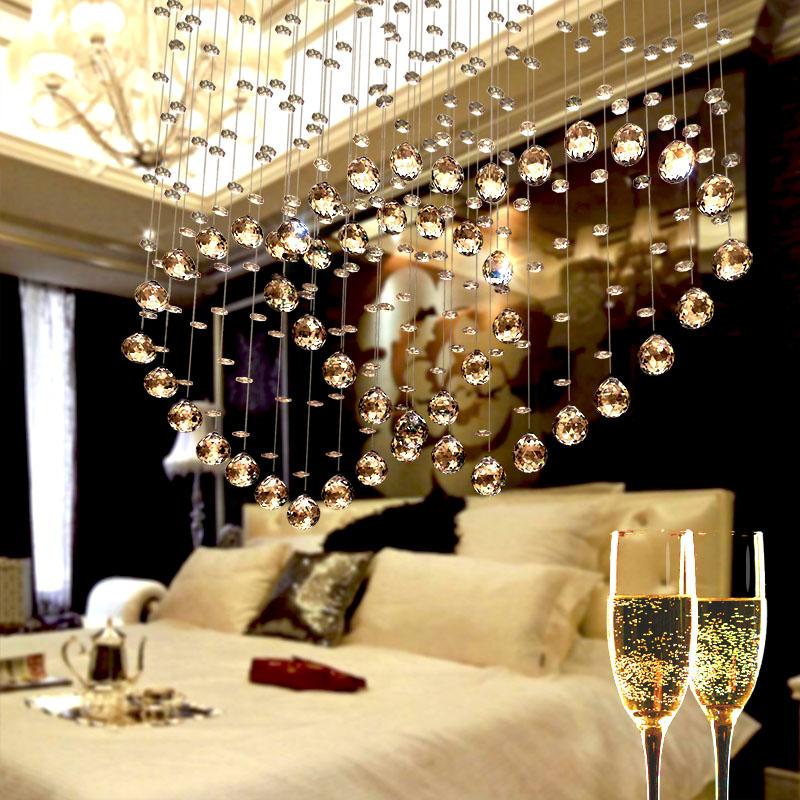 心形装饰水晶帘双心水晶珠帘隔断帘客厅家用玄关挂帘卧室欧式隔断
