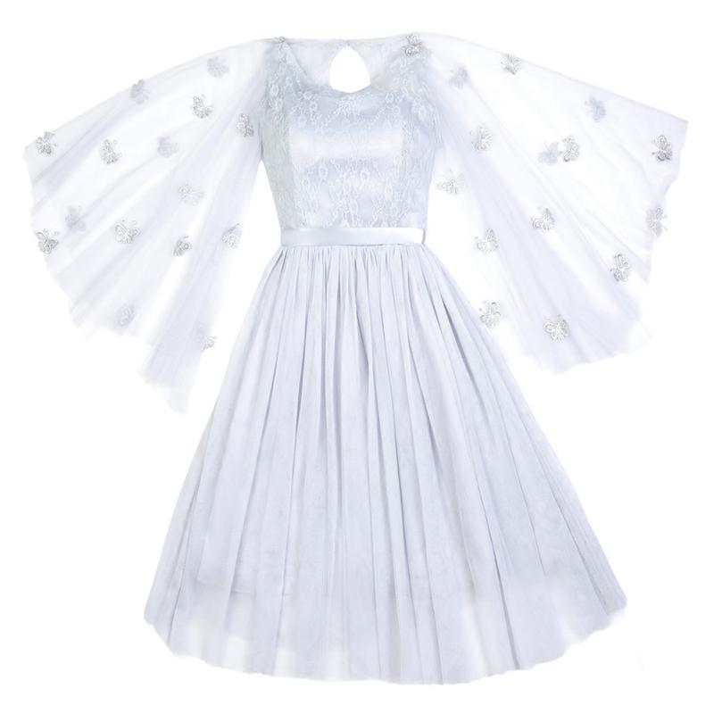 伴娘礼服2018新款披肩款中袖修身伴娘团姐妹裙香槟色显瘦短裙
