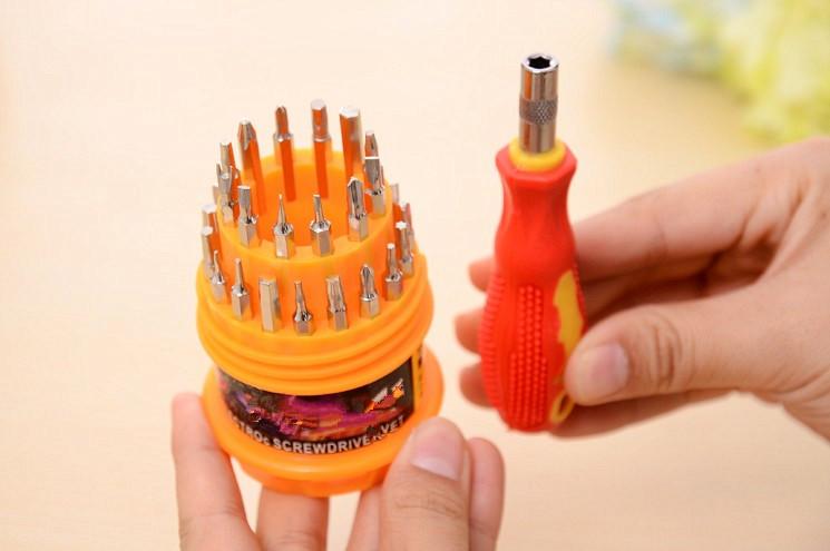 家庭实用31合1螺丝刀套件多功能螺丝刀套件拆装螺丝组合工具