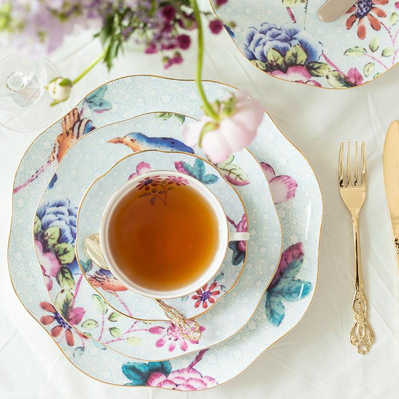 安娜16点英式下午茶茶具套装咖啡杯碟骨瓷红茶杯子陶瓷欧式小奢华