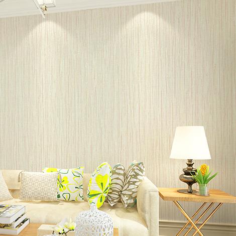 立体酒店无纺布现代简约竖条纹壁纸 3D 纯色素色墙纸卧室温馨客厅
