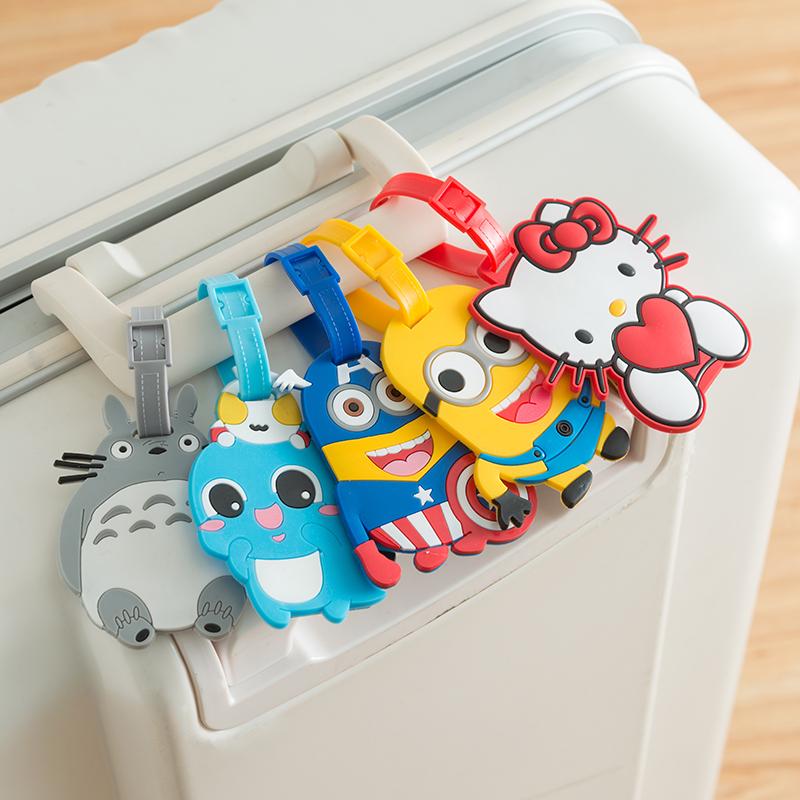 卡通矽膠旅行箱登機牌行李箱託運吊牌掛牌韓國創意行李牌出國用品