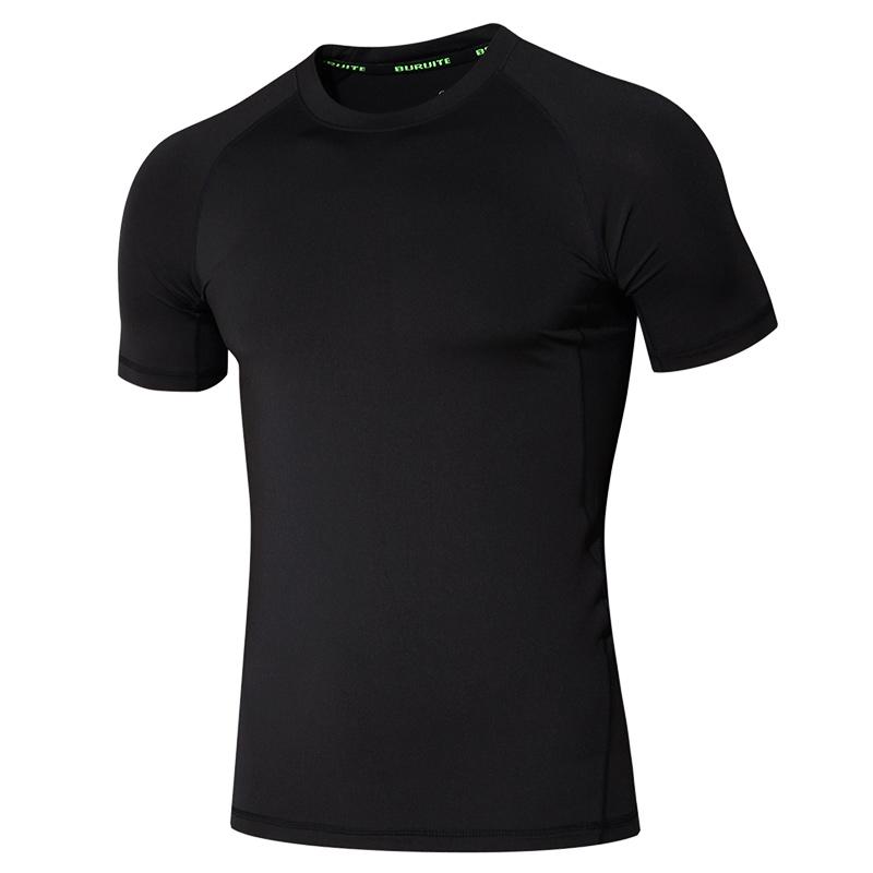 运动紧身衣男士长袖上衣弹力速干短袖运动T恤跑步健身服女训练服