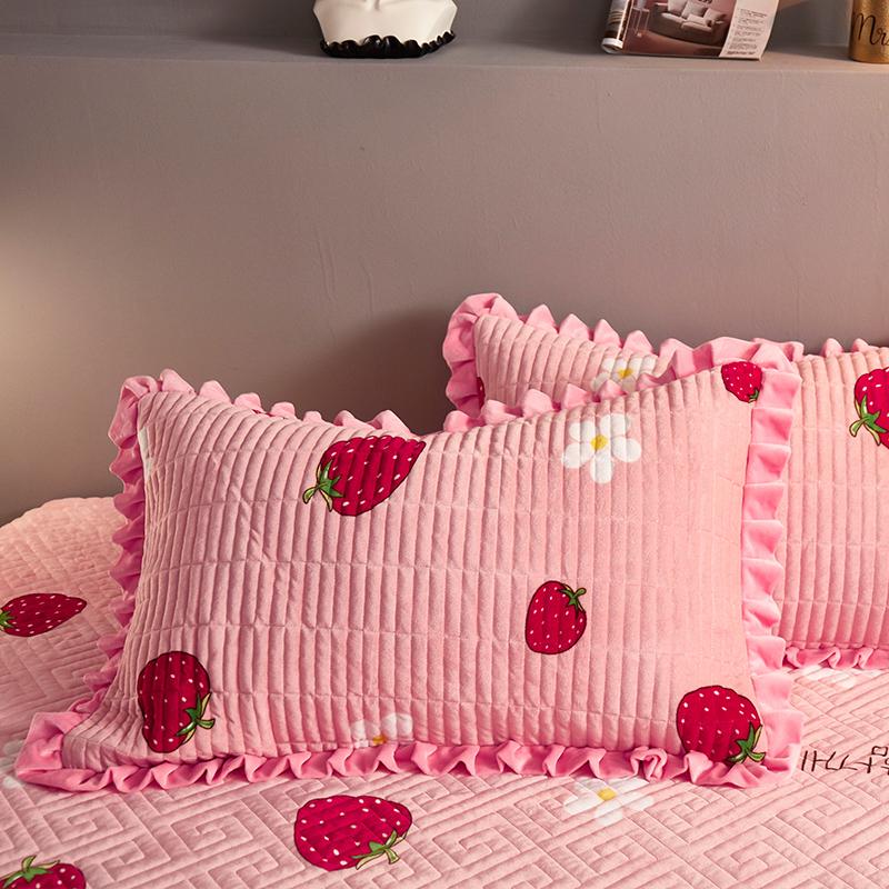 法兰绒夹棉床罩三件套床垫套防滑固定席梦思保护套珊瑚绒床笠单件