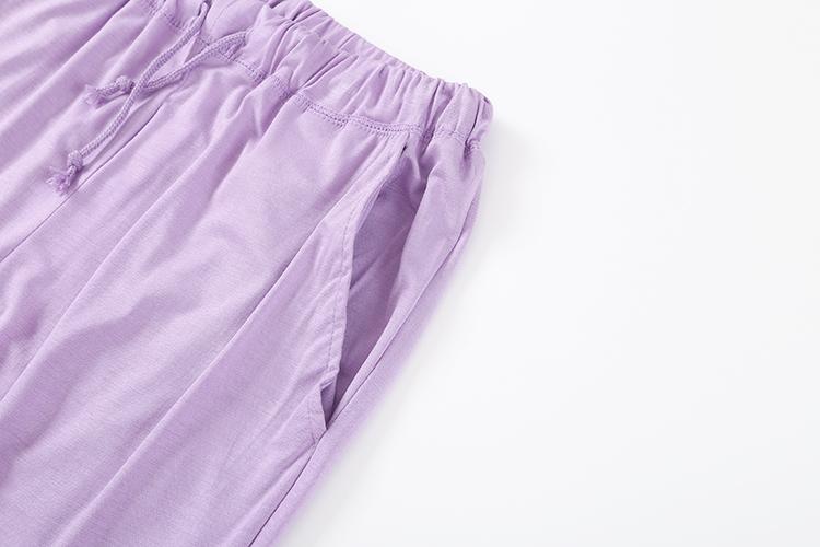 春秋情侣睡裤女夏莫代尔家居长裤纯棉薄款休闲宽松弹力运动晨练裤