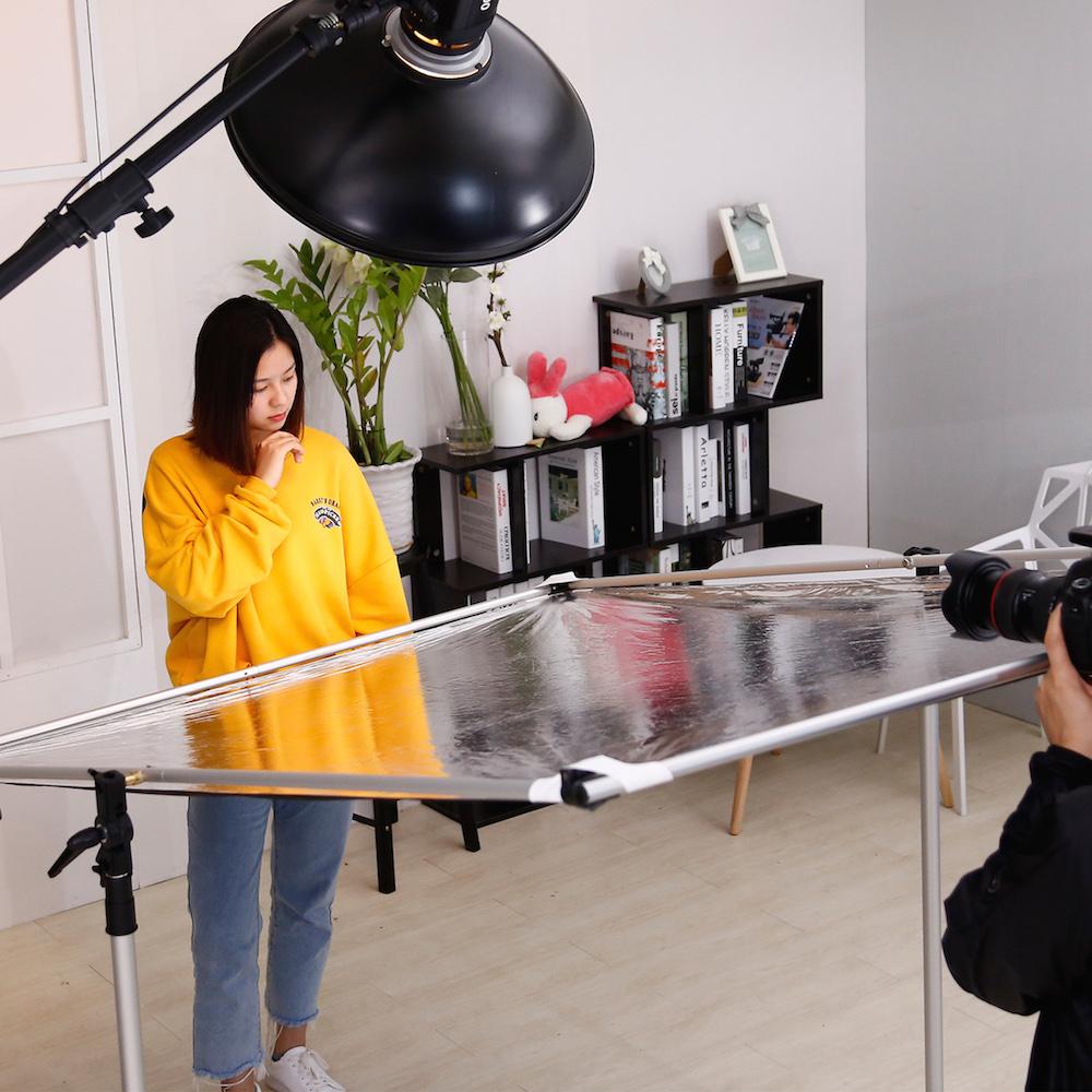 大号柔光屏影视旗板广告屏反光板挡光板柔光板大型移动反光屏摄影