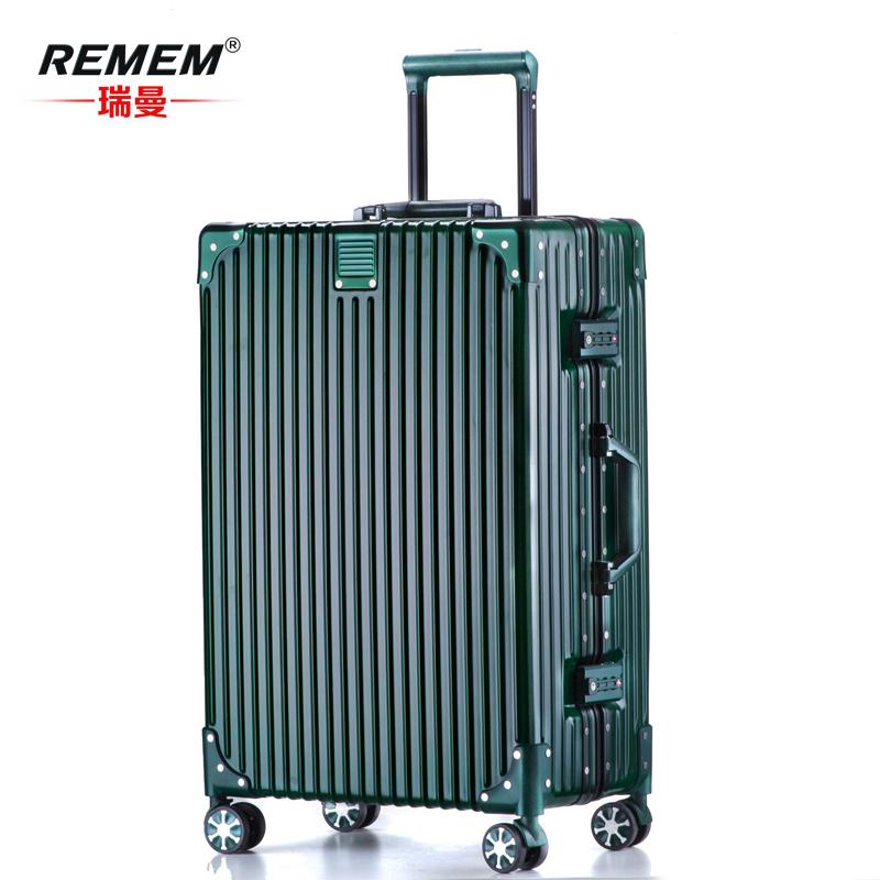29 复古学生 26 密码箱 24 寸拉杆箱旅行箱万向轮铝框韩版男 20 行李箱女
