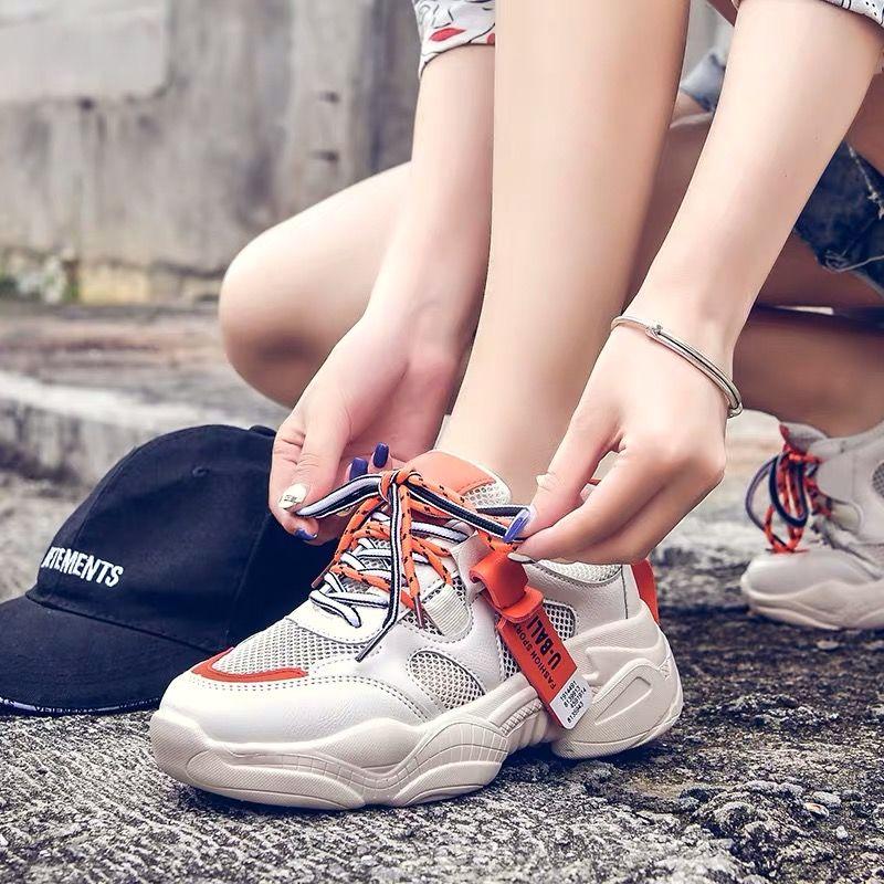 老爹鞋女ins潮春冬网红透气网面韩版ulzzang女学生运动鞋2020新款