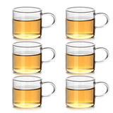 Small Tea Cup Kung Fu Tea Set Set For Household With Transparent Glass Cups 6 Tea Drinks