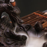 Dragon fish back censer creative ceramic tea accessories ornaments sandalwood incense line savory tower large vaporizer
