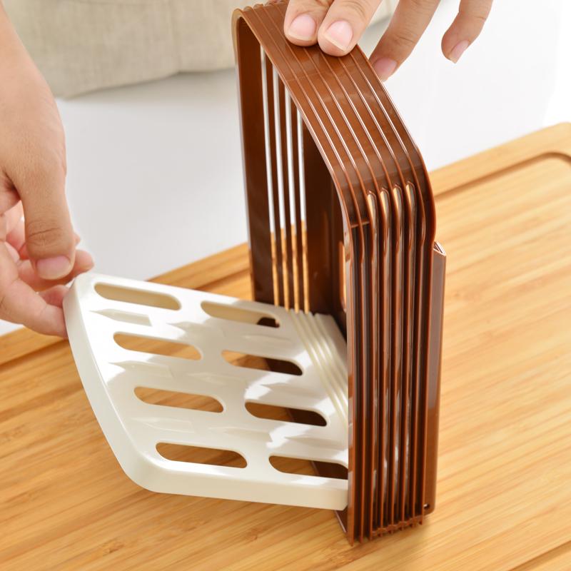 日本进口家用面包切片器吐司切片器切割架切厨房面包机 附面包刀