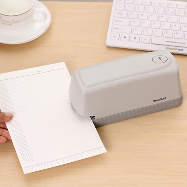 永燊大号重型加厚电动订书器小型办公商务范标准型多功能自动订书机办公文具用品电动订书机省力订书机