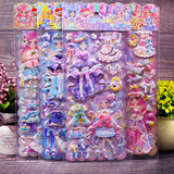 Girl princess dress girl clothes stickers quality three-dimensional collage sponge toys children's cartoon bubble stickers
