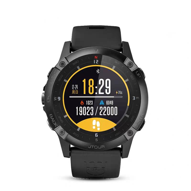 GPS 北斗定位导航跑步登山骑行游泳心率智能手表 军拓铁腕 航母 5.5X