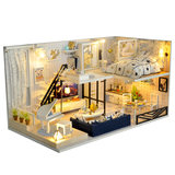 Model assembled creative diy small handmade cabin loft villa house China Wind birthday gift girls
