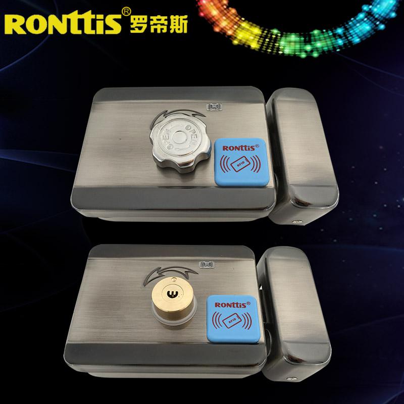 罗帝斯电子锁门禁一体防复制刷卡锁出租屋小区门锁电控锁 RONttiS
