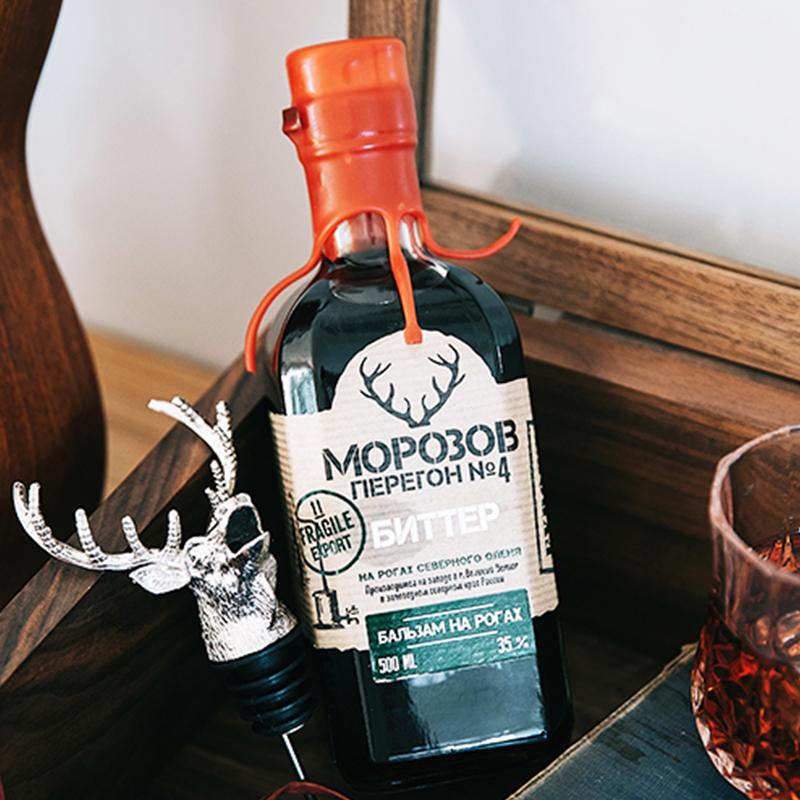 35 度利口力嬌酒洋酒 俄羅斯進口莫羅 號配制酒圣鹿先生天然草要香 4