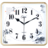 Compas clock electronic wall clock new Chinese style living room creative rectangular perpetual calendar Chinese style silent clock