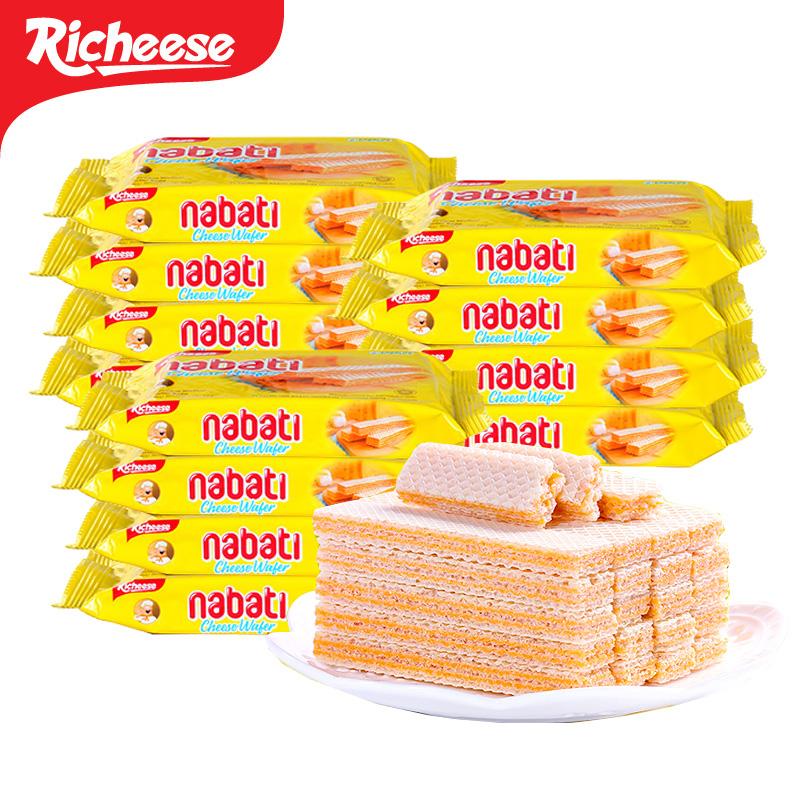 袋 10 58g 奶酪味威化芝士饼干 richeese 印尼进口零食品丽芝士