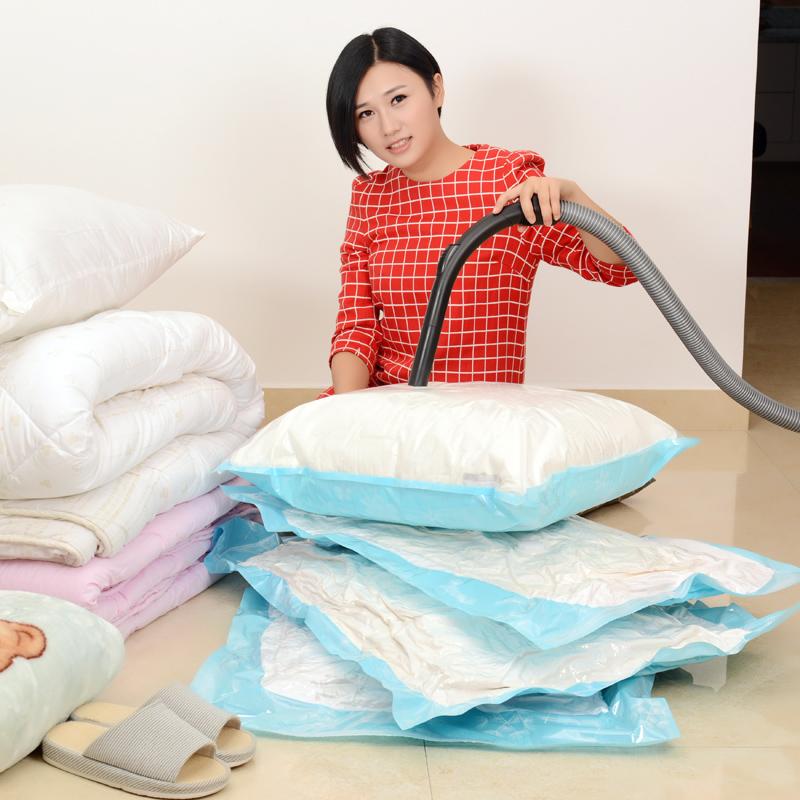 【5只装送泵】易旦真空压缩袋12丝特大号棉被子衣物衣服收纳袋子