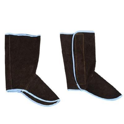 时尚火花劳保防烫气焊方便家用鞋面电焊鞋套加长焊接护脚套保护 mini 1