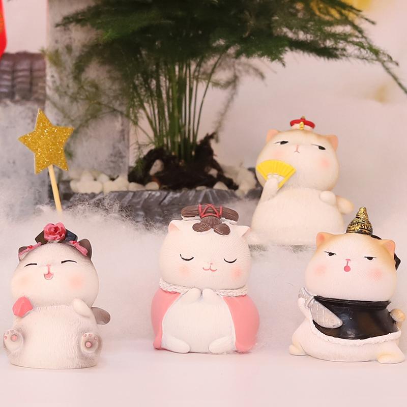 礼物生日创意同学 宫廷猫办公室复古装饰品小摆件女生桌面送老师