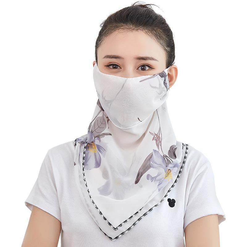 夏季防晒口罩女护颈脸薄款透气面罩全脸遮阳夏天防紫外线遮脸面纱