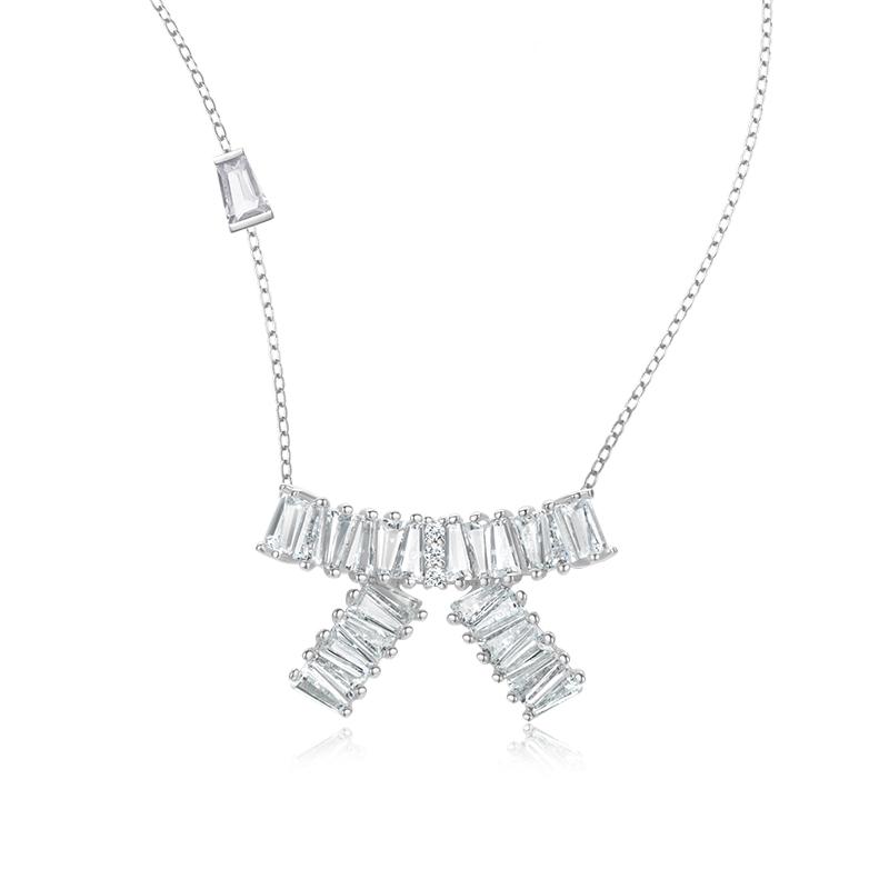 年新款锁骨链 2020 纯银简约气质 925 琴键蝴蝶结项链 蝴蝶系列 MMAGPY