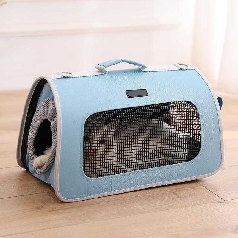 宠物包猫包外出便携斜跨手提装猫咪的旅行袋子背包狗狗包外带笼子【图3】