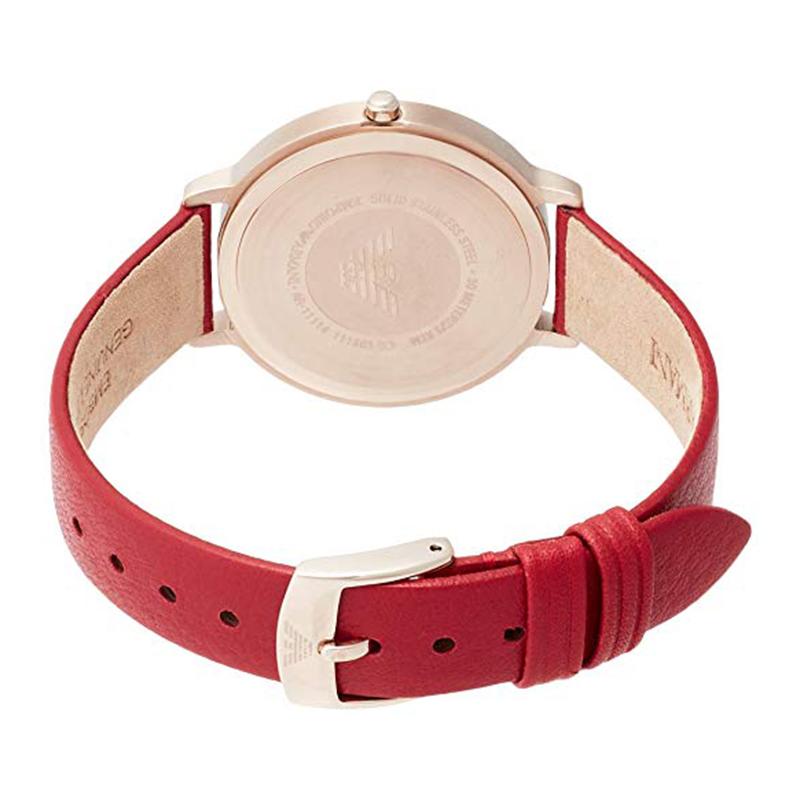 【香港发货】Armani阿玛尼手表女时尚休闲印花简约皮带石英女表