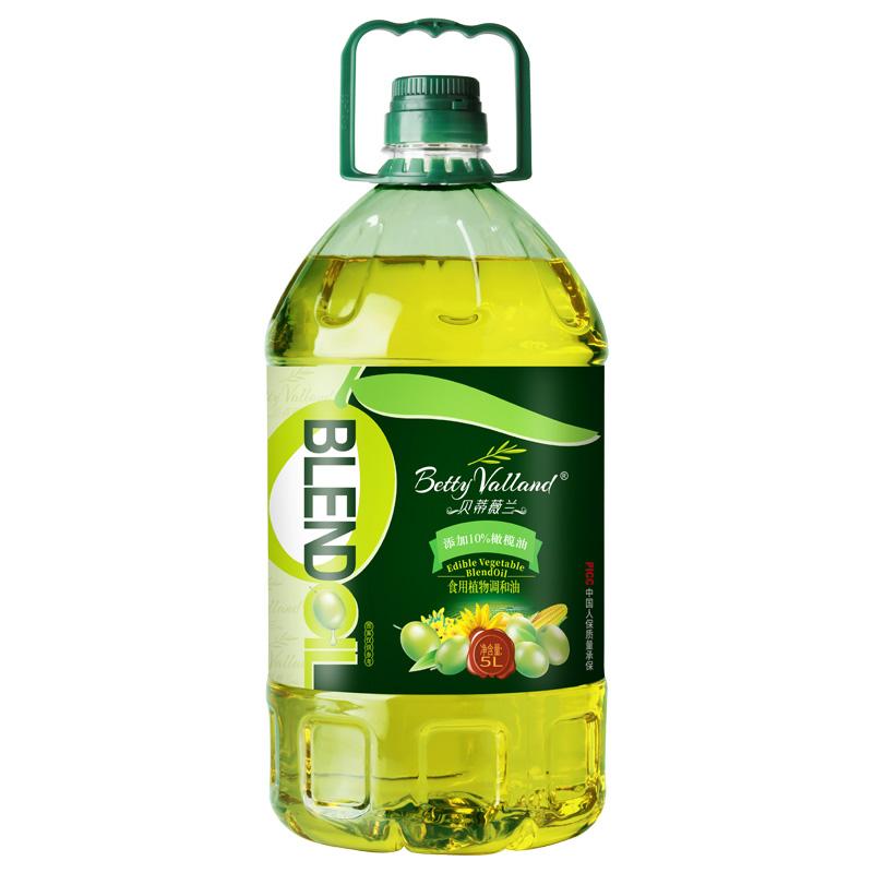 贝蒂薇兰10%橄榄油食用油非转基因低脂餐用色拉油调和油橄榄油5L
