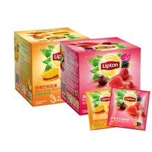 lipton Lipton tea combination of fruit Peach Mango Berry 20 bags loaded triangular tea bag independent fruit tea bags
