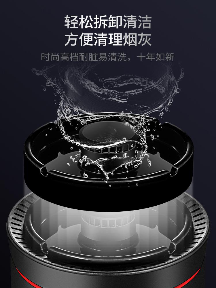 烟灰缸空气净化器办公室迷你家用小型抽烟除烟味防二手烟吸烟神器