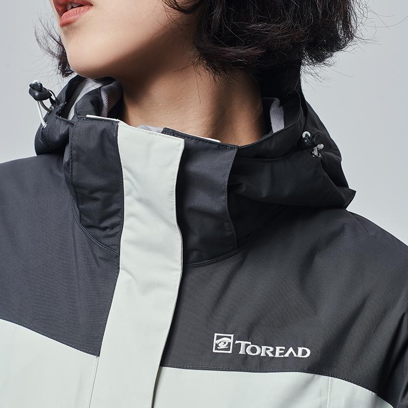 探路者冲锋衣男女户外秋冬季三合一防风衣可拆卸加绒加厚潮牌外套