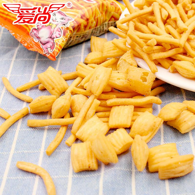 后懷舊膨化零食小吃休閑食品散裝整箱大禮包 80 愛尚咪咪蝦條蟹味粒