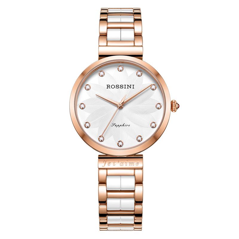 罗西尼新款手表女士时尚潮流简约皮带女表防水正品女士手表618832