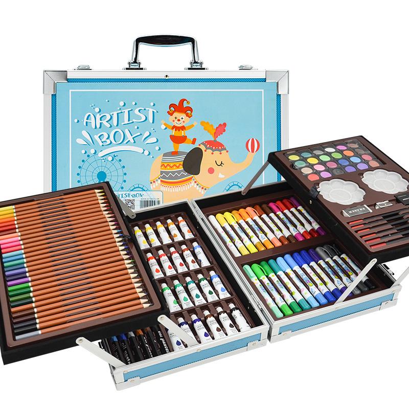 瑞莱茵水彩笔套装木盒画画笔幼儿园儿童绘画套装彩色笔安全无毒可水洗蜡笔美术小学生宝宝手绘幼儿涂鸦大礼盒