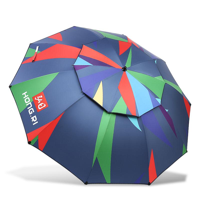 大垂钓伞 2.4 米防晒遮阳伞万向双层折叠防雨伞 2.2 弘日台钓伞钓鱼伞