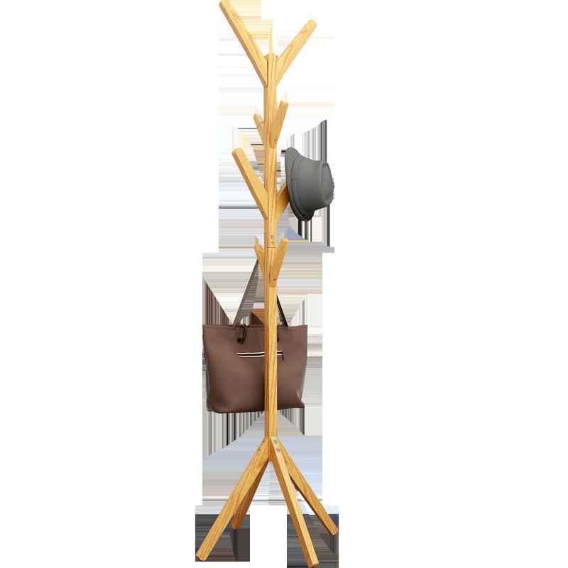 實木衣架落地臥室現代衣帽架家用衣服掛包置物掛衣架子北歐ins