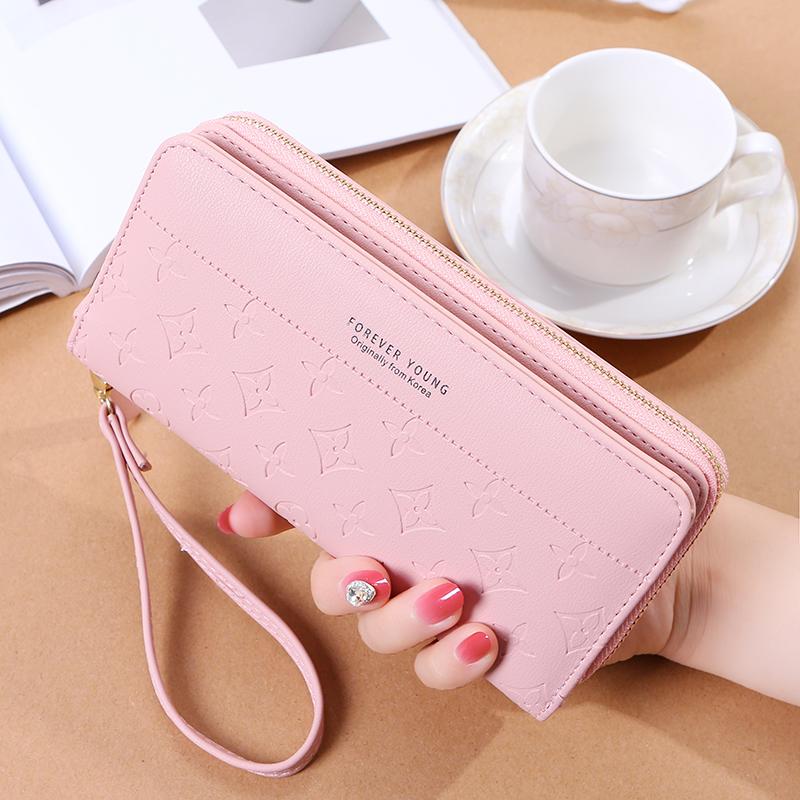 钱包女长方形中长款 小女孩钥匙中年夏季薄款日式容量能装手机