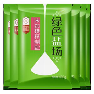 绿色盐场无碘食用盐400g*7袋