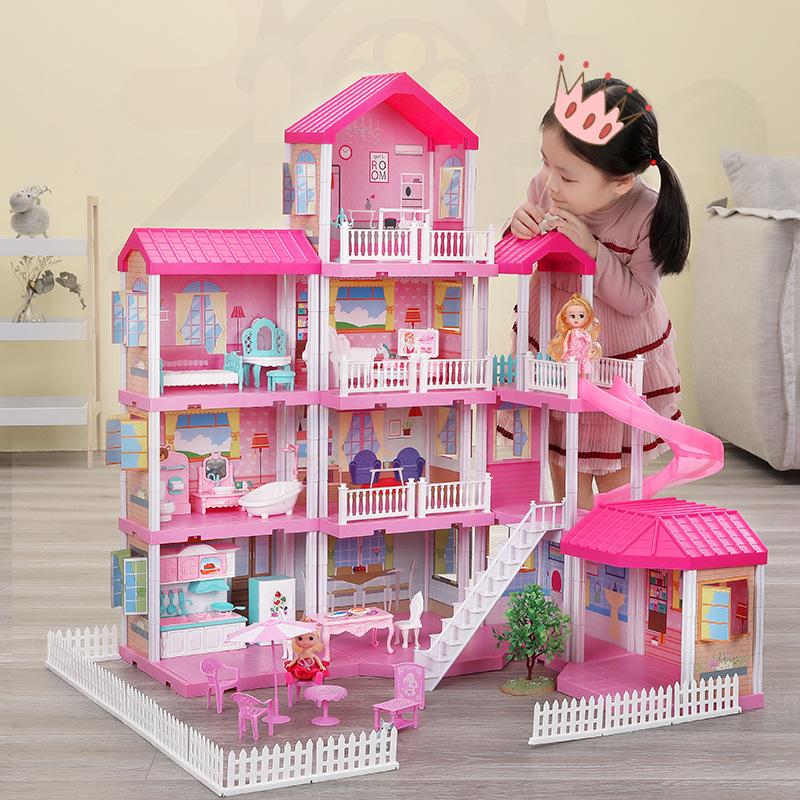 女孩城堡儿童玩具芭比梦想豪宅娃娃公主过家家房子别墅娃娃屋套装