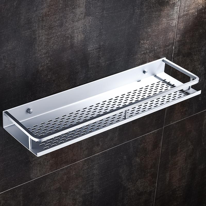 免打孔浴室置物架壁挂吸壁式太空铝厕所收纳架洗脸台卫生间洗手间