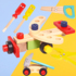 Children's disassembly and repair toolbox toy screw screw nut disassembly and assembly puzzle simulation assembly 4-6 year old boy