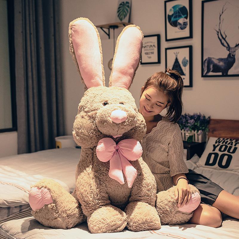 可爱美国兔子大号毛绒玩具睡觉抱枕公仔床上玩偶睡觉抱布娃娃女生