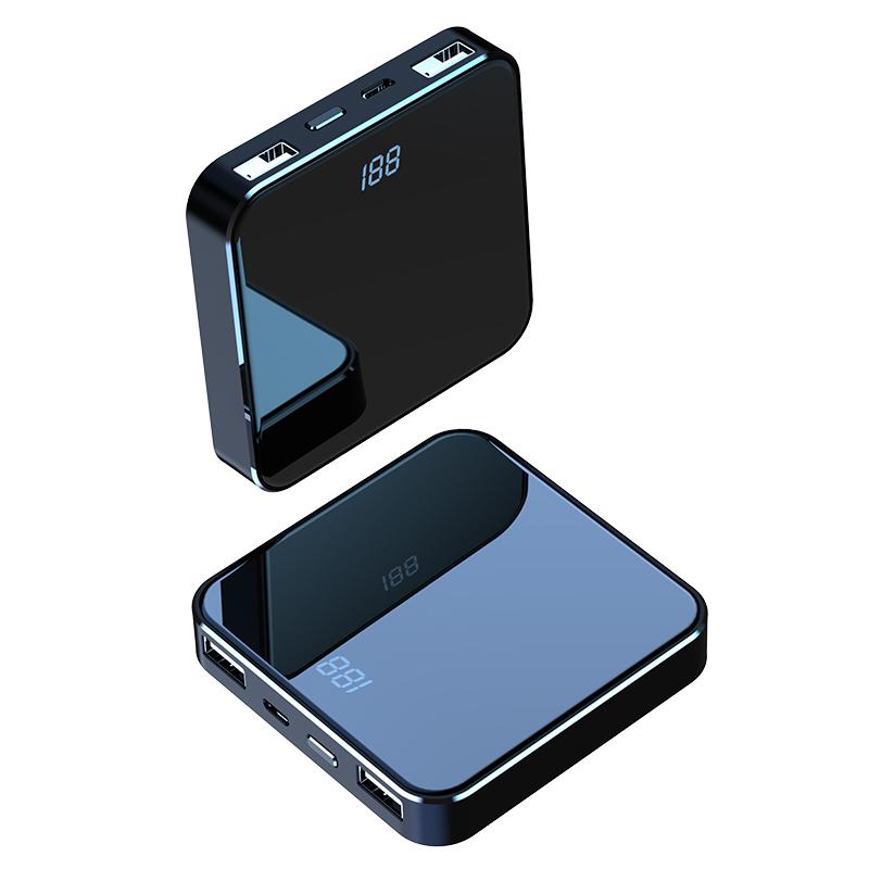 迷你充电宝20000毫安超薄小巧大容量正品移动电源自带线便携冲华为苹果小米oppo女生可爱创意快充闪充石墨烯