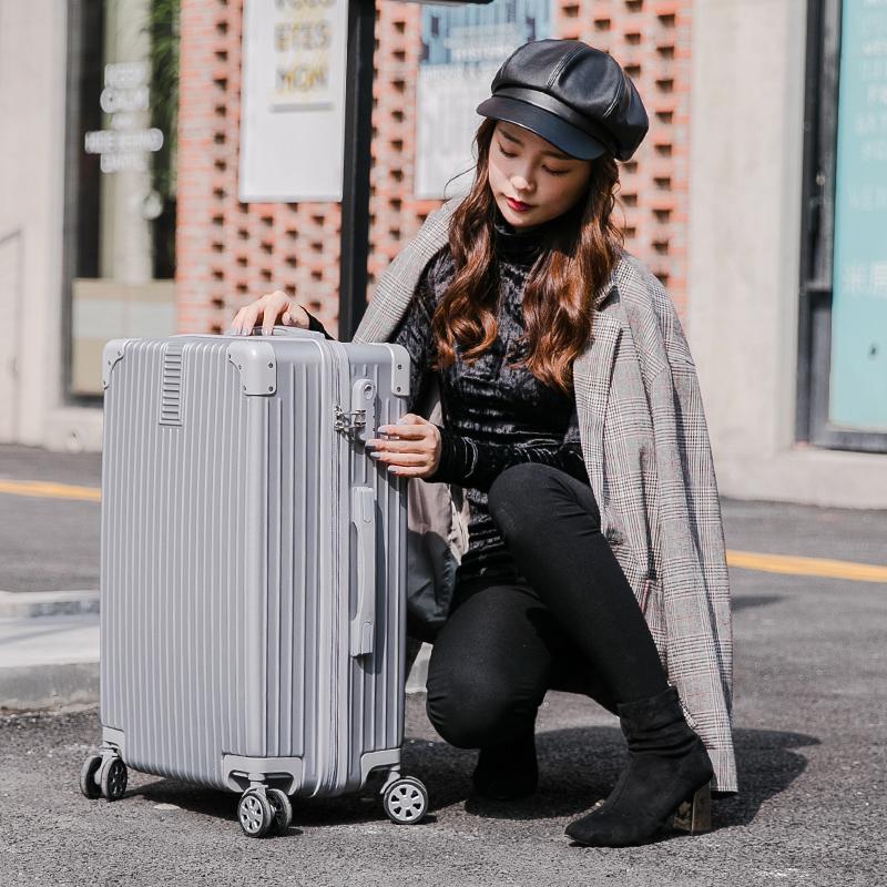 寸旅行箱万向轮男密码皮箱子潮 24 行李箱女大学生 20 网红 ins 拉杆箱