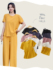 Elf story casual suit female 2021 new summer short-sleeved loose and thin wild short-sleeved trousers home service