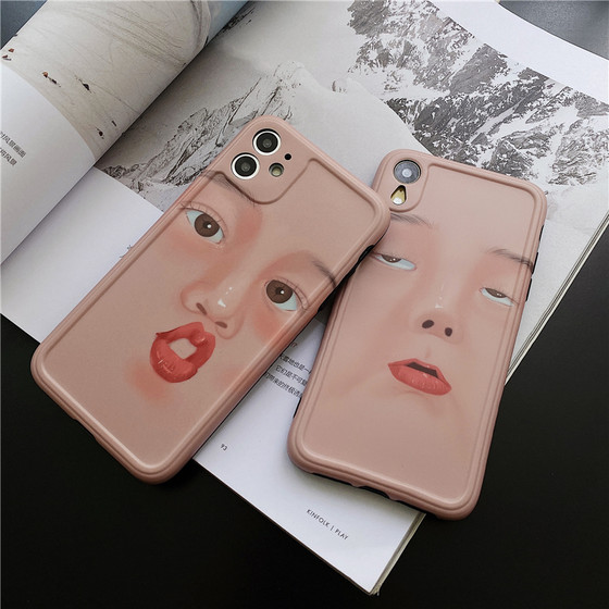 Fashion Brand Spoof Lovers Expression XR Apple 12 Mobile Phone Shell IPhone X Soft Shell Xsmax All Inclusive 8plus Silicone 7p Protective Case IPhone 11promax Creative Female Se2 Personality 12mini